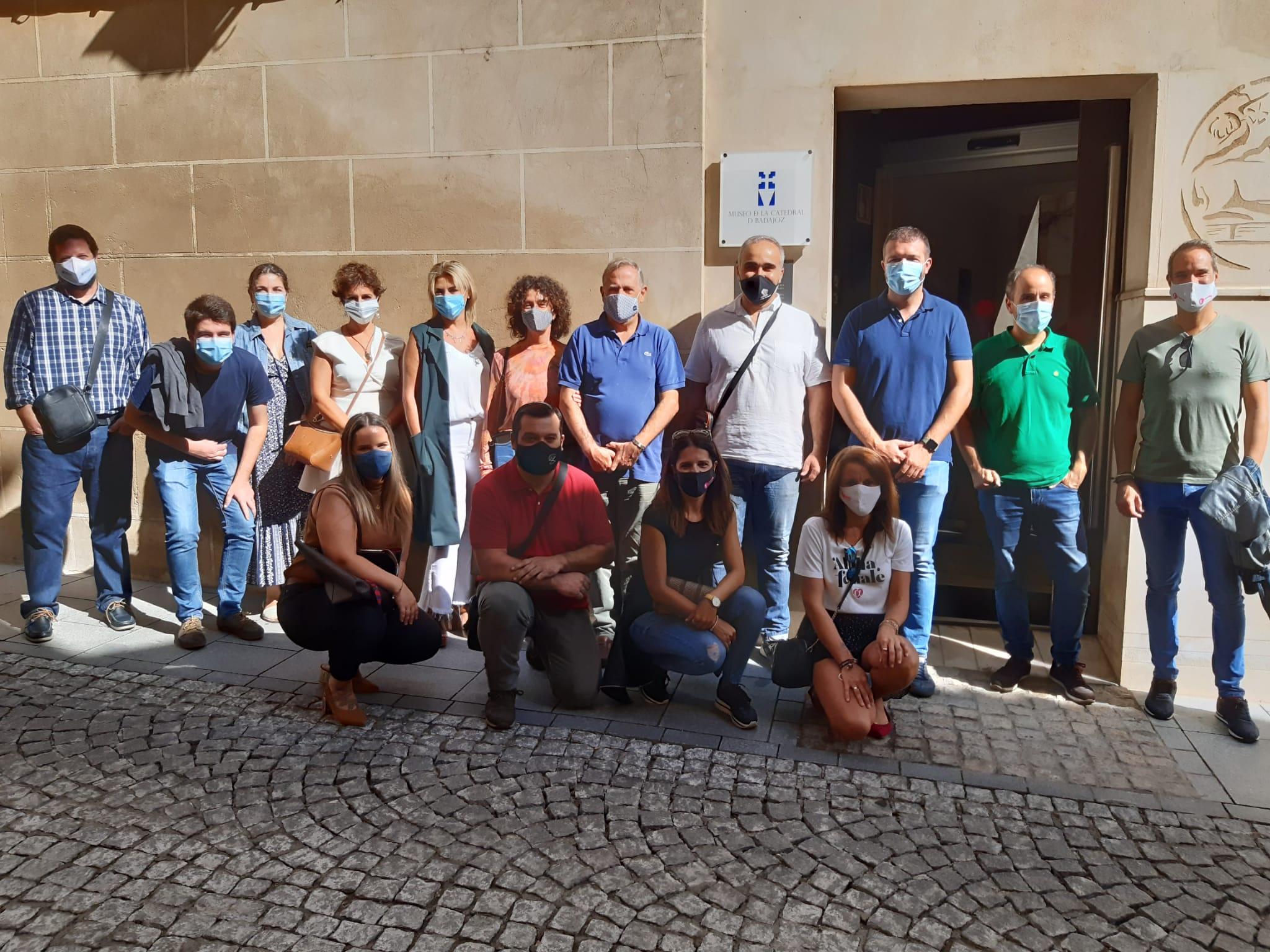 Visita de la Asociación Bni Fuerza Badajoz al Museo de la Catedral de Badajoz