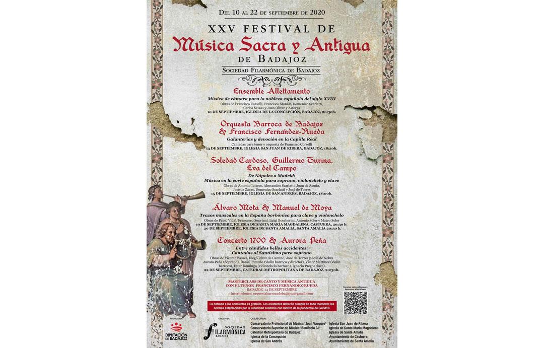 XXV Festival de Música Sacra y Antigua de Badajoz.