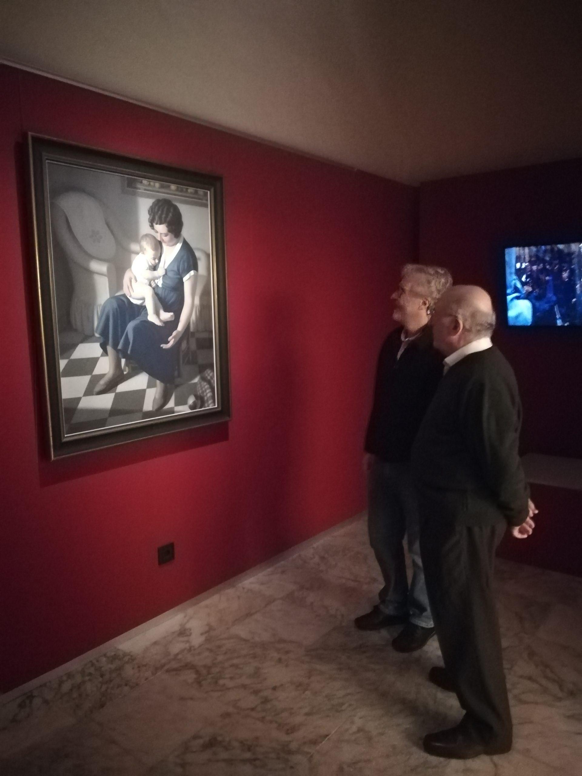 Visita de los sobrinos del pintor José Amador Purificación